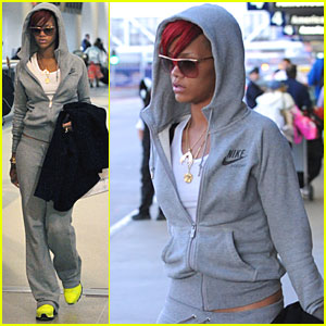 Rihanna: Rocking Chartreuse Sneakers!