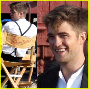 Robert Pattinson Smiles For Elephants