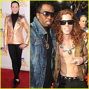 Shaun White & Johnny Weir - MTV Movie Awards 2010 Red Carpet