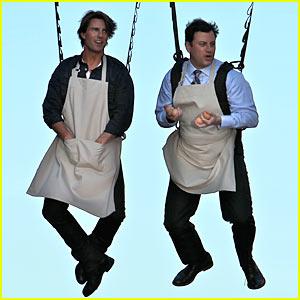 Tom Cruise Ziplines Across Hollywood Blvd.