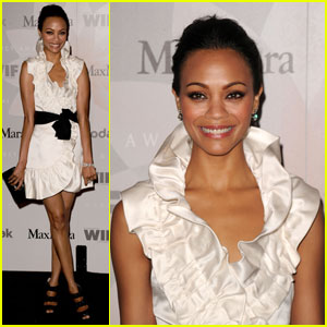 Zoe Saldana Is Crystal Cute