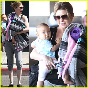 Ellen Pompeo: Yoga Class with Baby Stella!