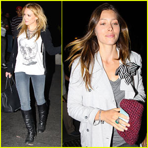 Hilary Duff & Jessica Biel: Kings of Leon Concert!