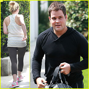 Hilary Duff & Mike Comrie: Workout in West Hollywood!