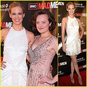 January Jones: 'Mad Men' Premiere with Elisabeth Moss!