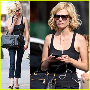 January Jones Tunes Out the World