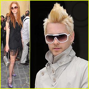 Jared Leto: Blonde Mohawk for Christian Dior!
