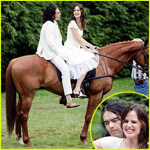 Jennifer Garner: Horseback Riding with Russell Brand!