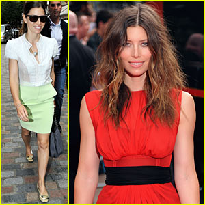 Jessica Biel Storms London with The A-Team