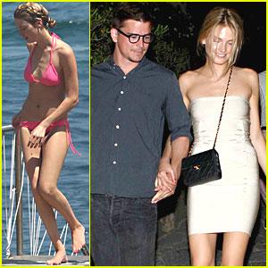 Josh Hartnett: Italian Vacation with Sophia Lie!