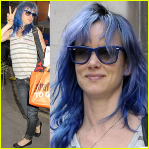 Juliette Lewis Debuts New Blue 'Do