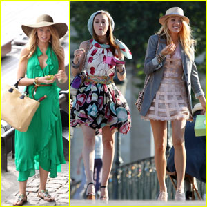 Leighton Meester & Blake Lively: 'Gossip Girl' Paris Preview!
