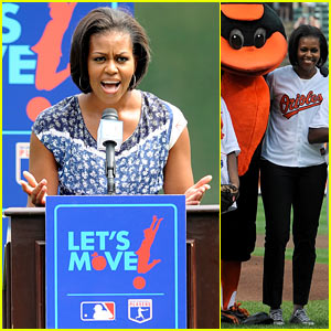 Michelle Obama Moves with the Orioles