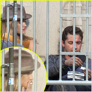 Shia LaBeouf Rolls Cigarette for Rosie