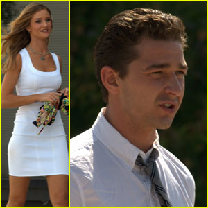 Shia LaBeouf & Rosie Huntington-Whiteley Transform and Roll Out