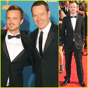 Aaron Paul &#038; Bryan Cranston - Emmys 2010 Red Carpet