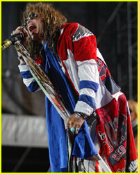 Steven Tyler Gets Bumped Into The Crowd
