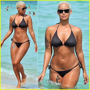 Amber Rose: Miami Beach in Bikini!