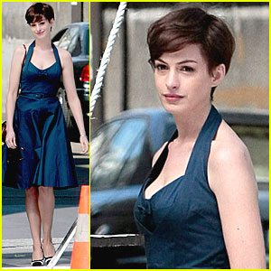 Anne Hathaway Debuts New Cropped 'Do