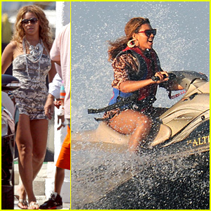 Beyonce: Jet Skiing in St. Tropez!