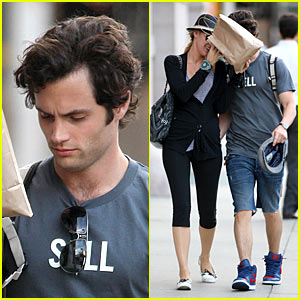Blake Lively & Penn Badgley: Paper Bag Cover-Up!