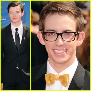 Chris Colfer & Kevin McHale: Emmys 2010 Red Carpet