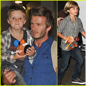 David Beckham & Sons: 'Toy Story' Fans!