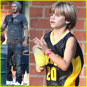 David Beckham, Cruz & Romeo: Playing in the Park!