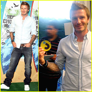 David Beckham: Teen Choice Awards with Sons!