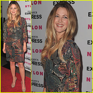 Drew Barrymore: Nylon & Express Party!