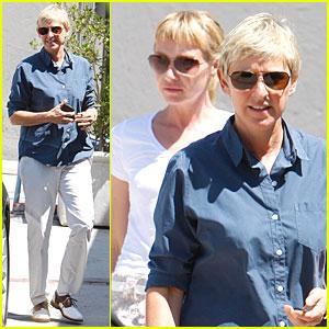 Ellen DeGeneres & Portia de Rossi: Art Gallery Gals