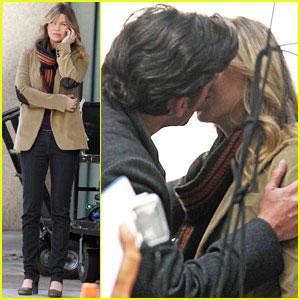 Ellen Pompeo Patrick Dempsey Kiss Kiss Ellen Pompeo Patrick