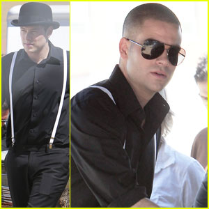 Mark Salling and Cory Monteith: Men in Black