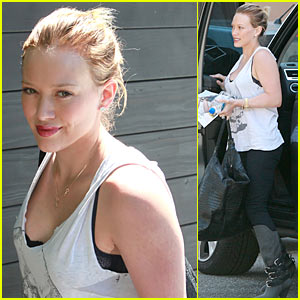 Hilary Duff: Accent on Fur!