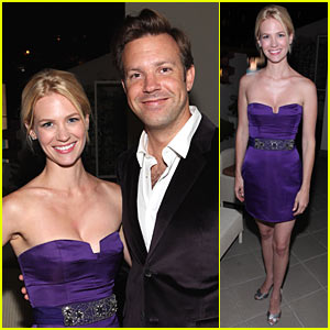 January Jones & Jason Sudeikis: Emmys Party Time!
