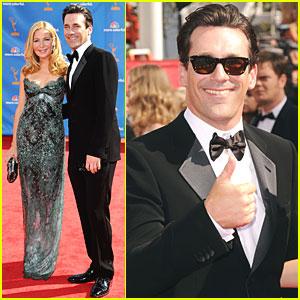 Jon Hamm & Jennifer Westfeldt - Emmys 2010 Red Carpet