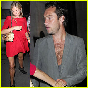 Jude Law & Sienna Miller: Wolseley Night Out
