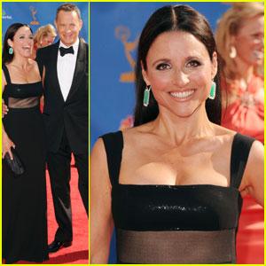Julia Louis-Dreyfus & Tom Hanks: Emmys 2010 Red Carpet
