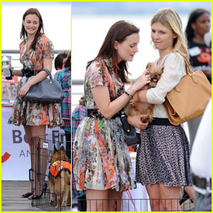 Leighton Meester & Clemence Poesy: Puppy Love