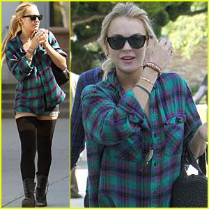Lindsay Lohan: Short Shorts at the Courthouse