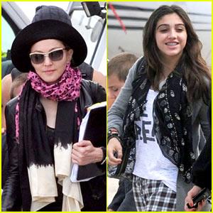 Madonna & Lourdes: Bourget Private Jet!