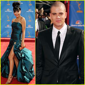 Mark Salling & Naya Rivera - Emmys 2010 Red Carpet
