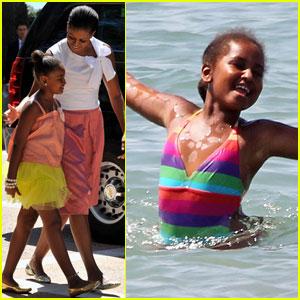 Michelle Obama Visits Spain with Sasha