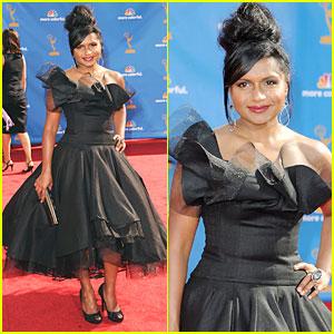 Mindy Kaling - Emmys 2010 Red Carpet