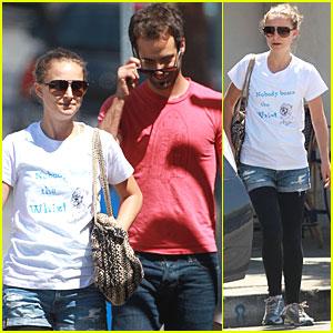 Natalie Portman: Shopping with Benjamin Millepied!