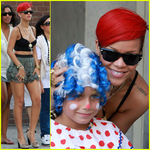 Rihanna Clowns Around!