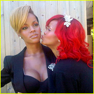 Rihanna's Wax Figure Gets Some Lovin' -- From Rihanna Herself!