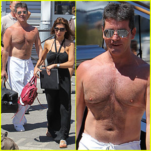 Simon Cowell's Chest Hair: Well-Groomed!