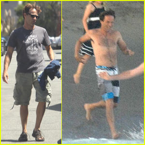 Stephen Moyer Jumps Into Ocean At Wedding Reception