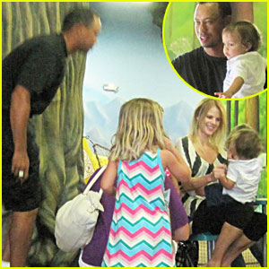 Tiger Woods & Elin Nordegren: Together For Daughter's Party